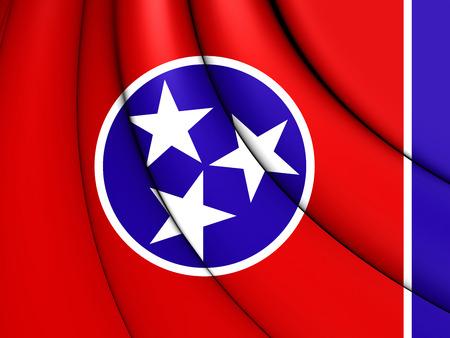 tennesse: 3D Bandera de Tennessee, EE.UU.. De cerca.