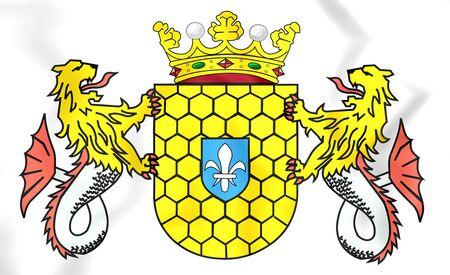 lelystad: 3D Lelystad Coat of Arms, Netherlands. Close Up.