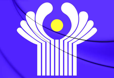 commonwealth: Commonwealth of Independent States Flag. 3D Illustration.