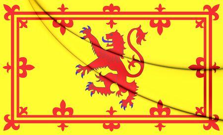 scots: Royal Standard of Scotland. 3D Illustration.