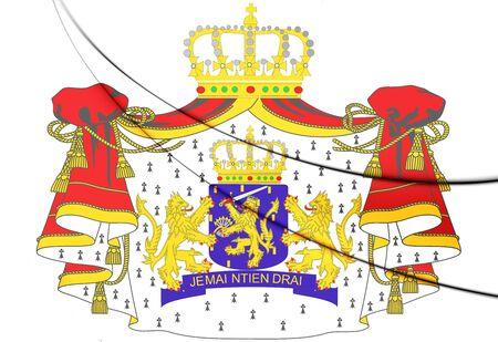 3D Netherlands Coat of Arms. 3D Illustration.