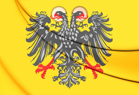 holy roman emperor: 3D Flag of Holy Roman Empire (1400-1806). 3D Illustration.
