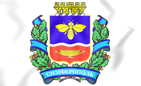 crimea: 3D Simferopol Coat of Arms, Crimea. Close Up.