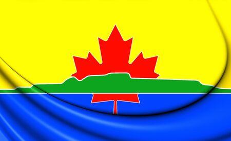 ontario: 3D Flag of Thunder Bay (Ontario), Canada.