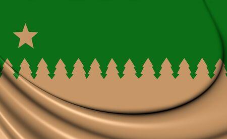 ontario: 3D Flag of Greater Sudbury (Ontario), Canada.