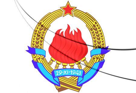 yugoslavia: Yugoslavia Coat of Arms. 3D Illustration.