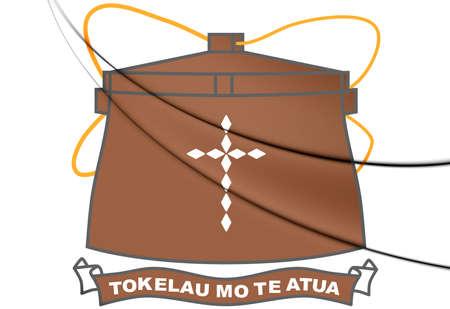 tokelau: Tokelau Coat of Arms. 3D Illustration.