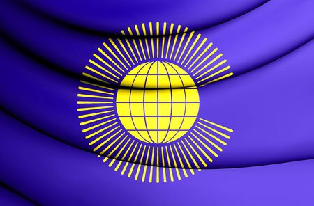 commonwealth: Commonwealth of Nations Flag. 3D Illustration.