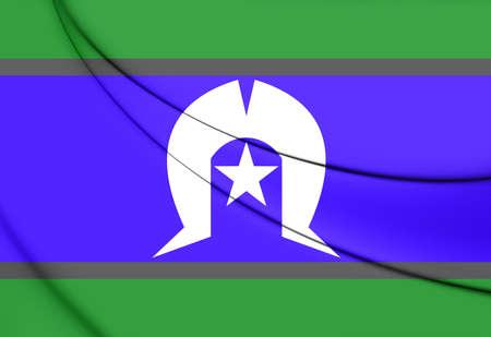 queensland: Flag of Torres Strait Islanders. 3D Illustration.