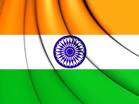 india 3d: Flag of India. 3D Illustration.