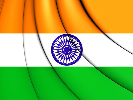 Flag of India. 3D Illustration.