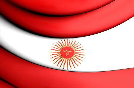 former: Second Official Flag of Peru (1822). 3D Illustration. Stock Photo