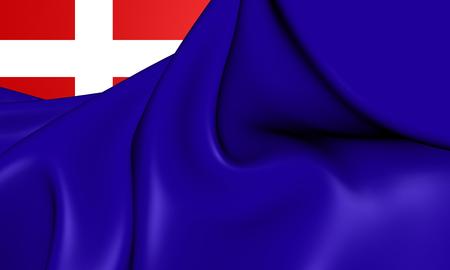 sardinia: Kingdom of Sardinia Flag. 3D Illustration.