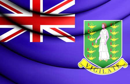 virgin islands: Flag of British Virgin Islands. 3D Illustration.