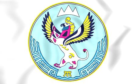 altai: Altai Republic Coat of Arms, Russia. 3D Illustration.
