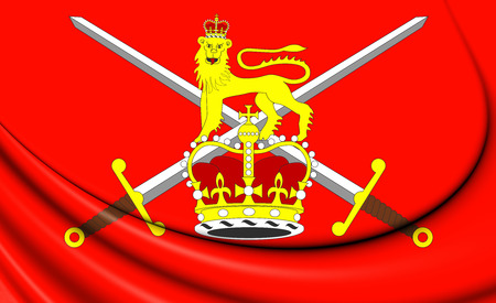 Flag Of British Army 3d Illustration Stock Photo Picture And