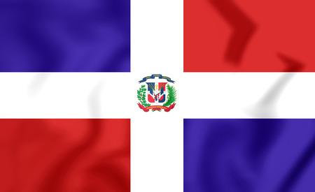 dominican republic: Flag of Dominican Republic. 3D Illustration.