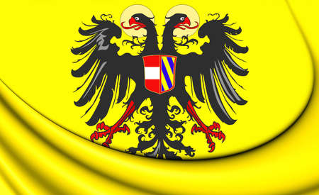holy roman emperor: Holy Roman Empire Flag (1493-1556). 3D Illustration.