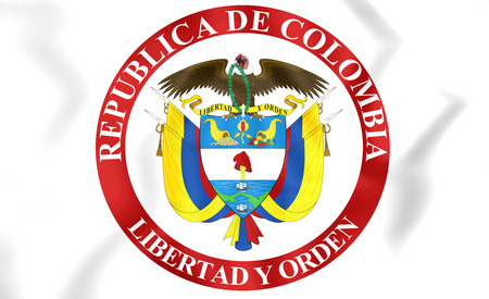 presidential: Presidential Seal of Colombia. 3D Illustration.