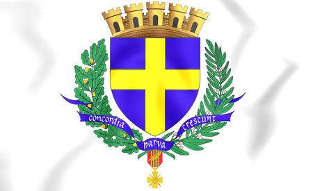 blason: Toulon Coat of Arms, France. 3D Illustration. Stock Photo