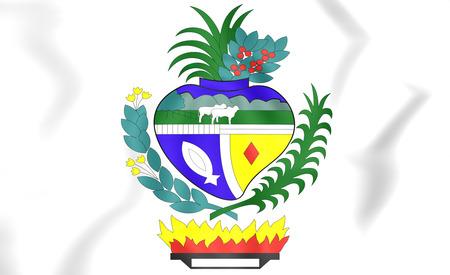 Goias coat of arms, Brazil. 3D Illustration.