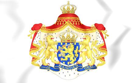 Netherlands Coat of Arms. 3D Illustration.