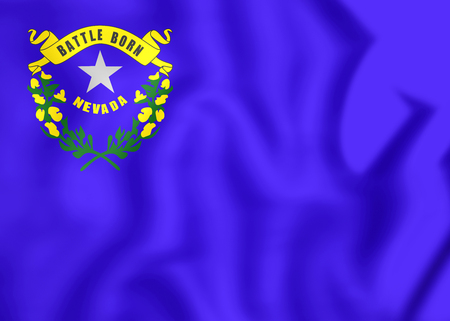flutter: Flag of Nevada, USA. 3D Illustration.
