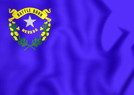 nevada: Flag of Nevada, USA. 3D Illustration.