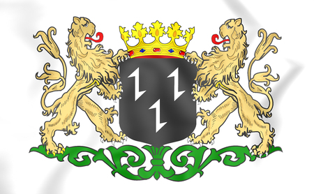 Purmerend Coat of Arms (North Holland), Netherlands. 3D Illustration. Stock Photo