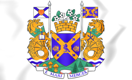 halifax: Halifax coat of arms, Canada. 3D Illustration. Stock Photo