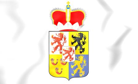 limburg: Limburg coat of arms, Netherlands. 3D Illustration.