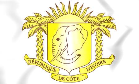 Cote d'Ivoire Coat of Arms. 3D Illustration. 免版税图像