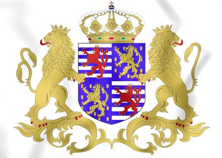 duke: Grand Duke of Luxembourg Coat of Arms. 3D Illustration. Stock Photo