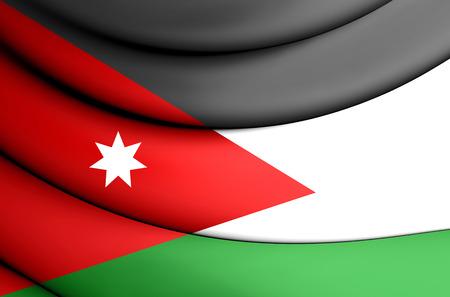 jordan: 3D Flag of Jordan. 3D Illustration.