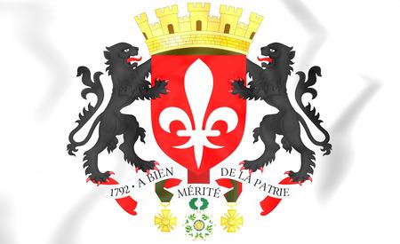 lille: Lille coat of arms, France. 3D Illustration.