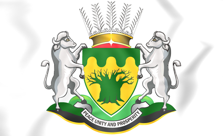 rsa: Limpopo Province coat of arms, South Africa. 3D Illustration.