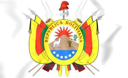 bolivia: Bolivia Coat of Arms (1826). 3D Illustration. Stock Photo