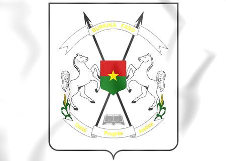 upper arm: Burkina Faso Coat of Arms. 3D Illustration. Stock Photo