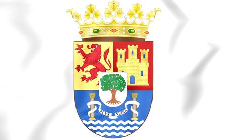 extremadura: Extremadura Coat of Arms, Spain. 3D Illustration. Stock Photo