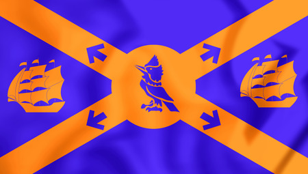 halifax: 3D Flag of Halifax, Canada. 3D Illustration.
