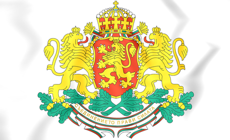 Bulgaria Coat of Arms. 3D Illustration.