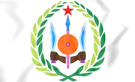 djibouti: Djibouti Coat of Arms. 3D Illustration.