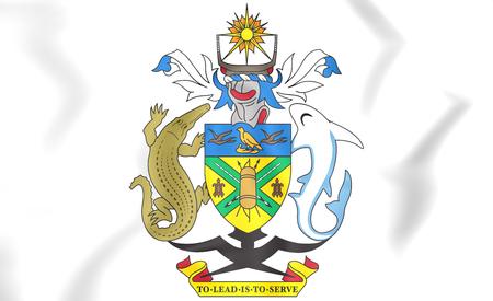 solomon: Solomon Islands coat of arms. 3D Illustration.