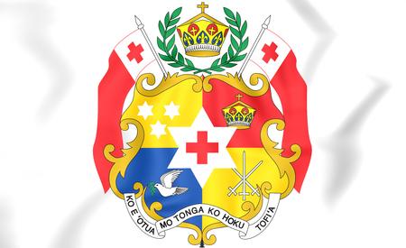 tonga: Tonga coat of arms. 3D Illustration. Stock Photo