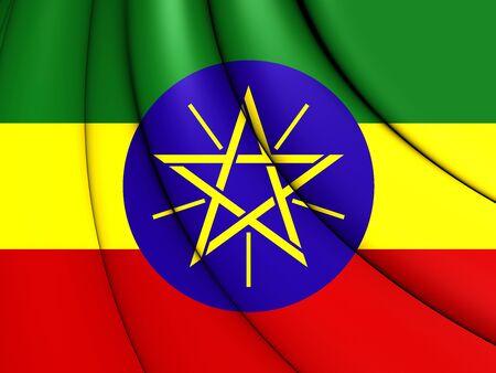 national flag ethiopia: 3D Flag of the Ethiopia. 3D Illustration.    Stock Photo
