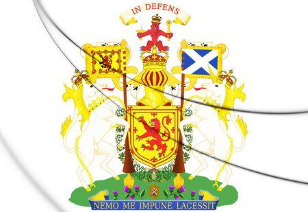 3D Scotland Royal Coat of Arms. 3D Illustration.