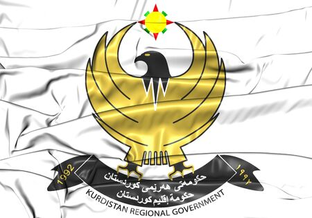 3D Kurdistan Regional Government Coat of Arms. 3D Illustration.