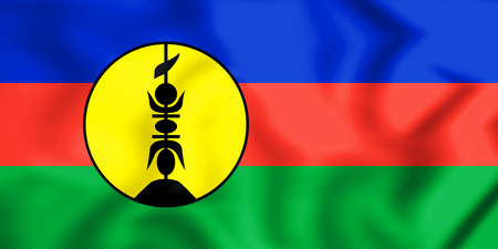 3D Flag of New Caledonia. 3D Illustration. Stock Photo