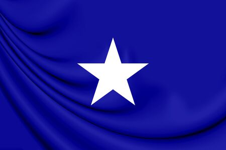 former: Bonnie Blue flag of the Confederate States of America. 3D Illustration.   Stock Photo