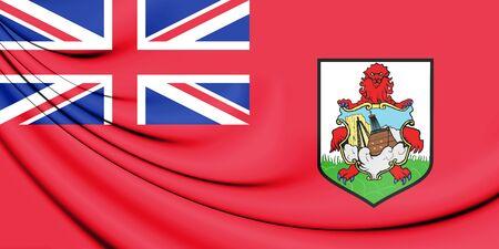 flag: 3D Flag of Bermuda. 3D Illustration.